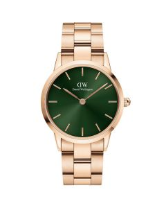 ADW00100420 fra Daniel Wellington - Pænt Dameur 32 MM Iconic Emerald Rosa